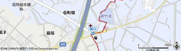 愛知県東海市荒尾町(長口)周辺の地図