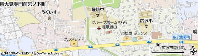 京都府京都市右京区嵯峨新宮町周辺の地図