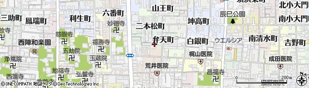 京都府京都市上京区弁天町周辺の地図
