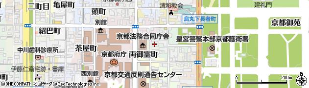 京都府京都市上京区御霊町周辺の地図