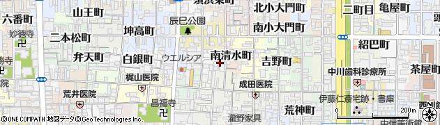 京都府京都市上京区南清水町周辺の地図