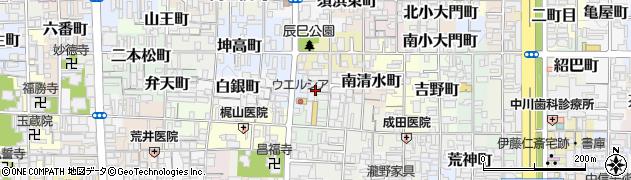 京都府京都市上京区秤口町周辺の地図