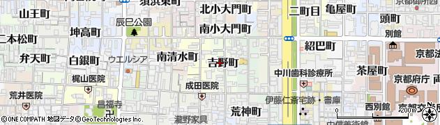 京都府京都市上京区吉野町周辺の地図