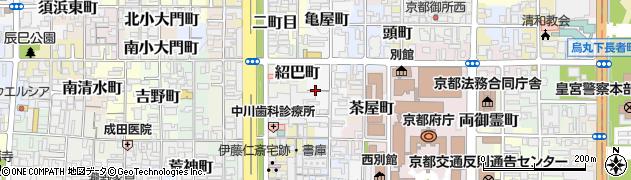 京都府京都市上京区大黒屋町周辺の地図