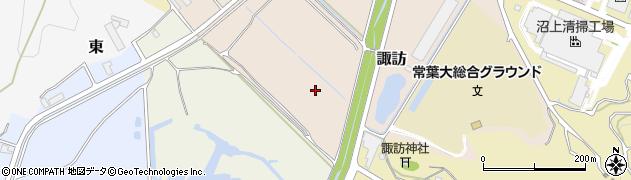 静岡県静岡市葵区諏訪周辺の地図