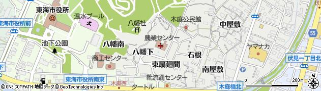 愛知県東海市富木島町(八幡下)周辺の地図