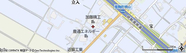 愛知県豊田市生駒町(横山)周辺の地図