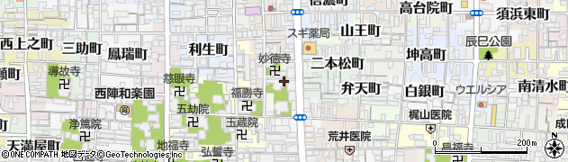 京都府京都市上京区福島町周辺の地図