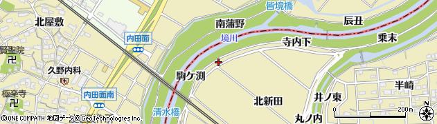 愛知県刈谷市泉田町(駒ケ渕)周辺の地図