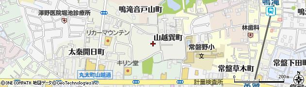 京都府京都市右京区山越巽町周辺の地図