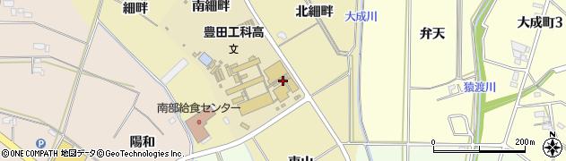 愛知県豊田市竹元町(東細畔)周辺の地図