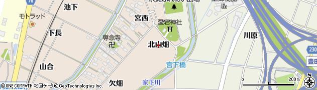 愛知県豊田市永覚町(北山畑)周辺の地図