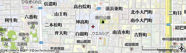 京都府京都市上京区山本町周辺の地図