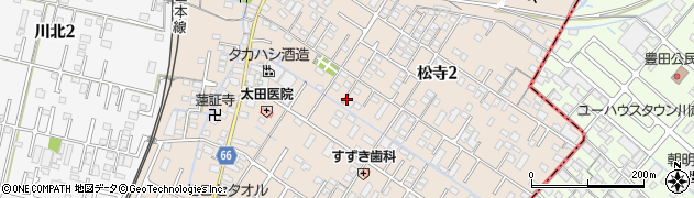 三重県四日市市松寺周辺の地図