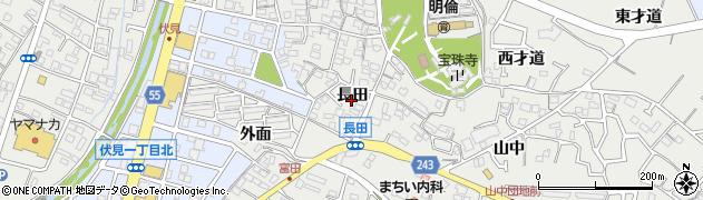 愛知県東海市富木島町(長田)周辺の地図