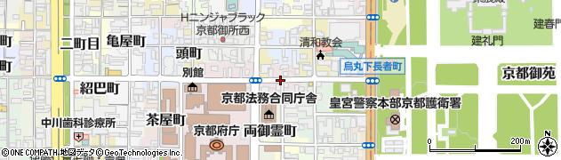 京都府京都市上京区西鷹司町周辺の地図