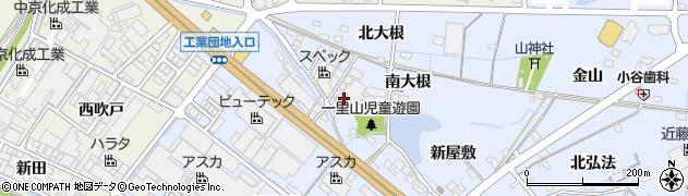 愛知県刈谷市一里山町(南大根)周辺の地図