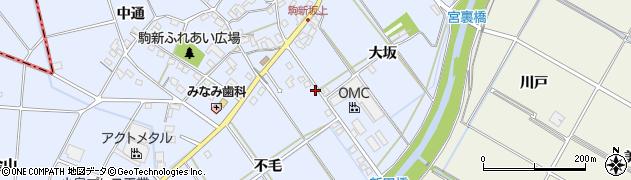 愛知県豊田市駒新町(不毛)周辺の地図