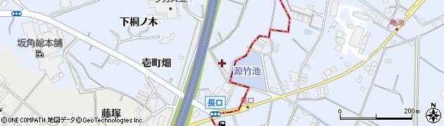愛知県東海市荒尾町(源太池)周辺の地図