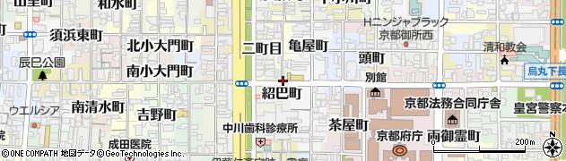 京都府京都市上京区紹巴町周辺の地図