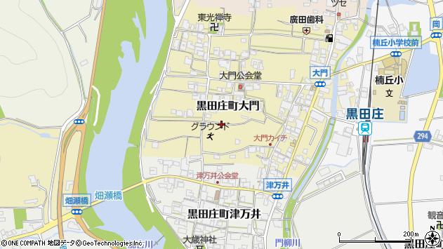 〒679-0316 兵庫県西脇市黒田庄町大門の地図