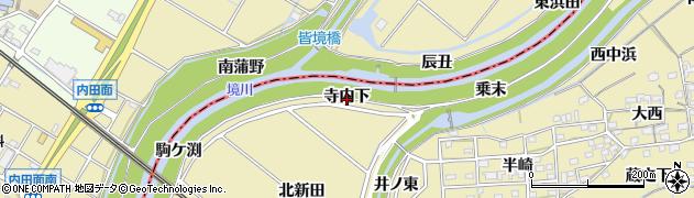 愛知県刈谷市泉田町(寺内下)周辺の地図