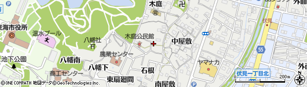 愛知県東海市富木島町(上り戸)周辺の地図