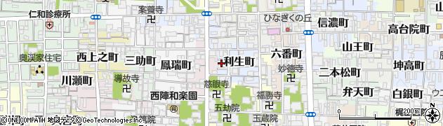 京都府京都市上京区利生町周辺の地図