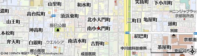 京都府京都市上京区南小大門町周辺の地図