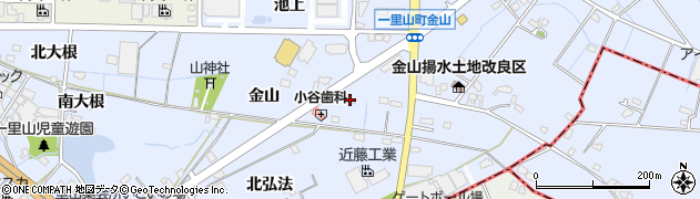 愛知県刈谷市一里山町(金山)周辺の地図