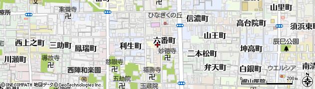 京都府京都市上京区六番町周辺の地図