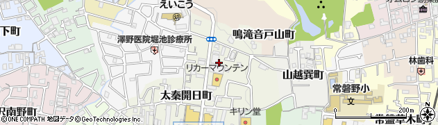 京都府京都市右京区山越東町周辺の地図