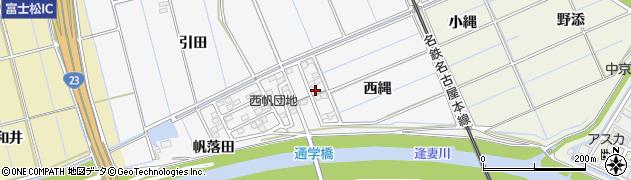 愛知県刈谷市今川町(西縄)周辺の地図