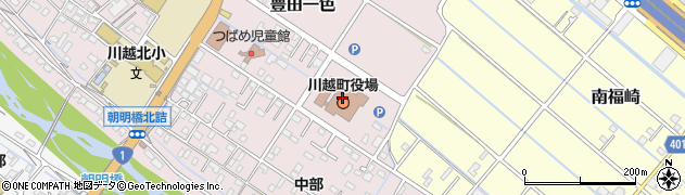 三重県三重郡川越町周辺の地図