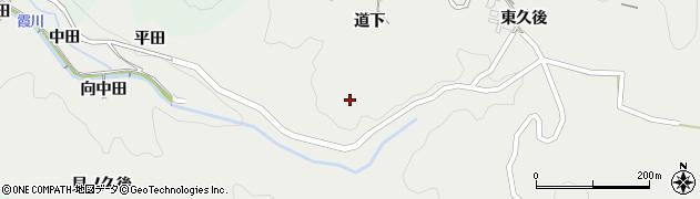 愛知県岡崎市渡通津町(道下)周辺の地図