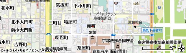 京都府京都市上京区頭町周辺の地図