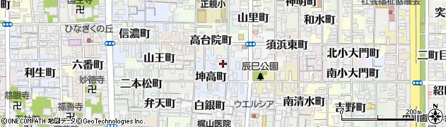 京都府京都市上京区亀木町周辺の地図