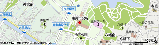 愛知県東海市周辺の地図