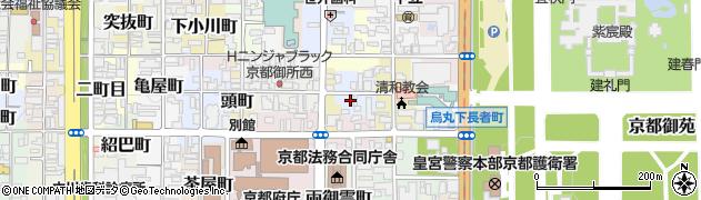 京都府京都市上京区東長者町周辺の地図