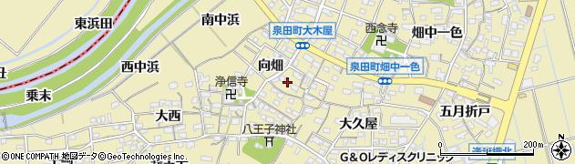 愛知県刈谷市泉田町(向畑)周辺の地図