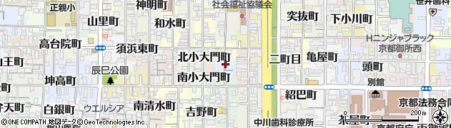 京都府京都市上京区猪熊二丁目周辺の地図