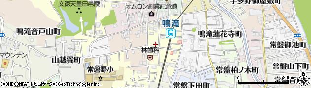 京都府京都市右京区鳴滝嵯峨園町周辺の地図