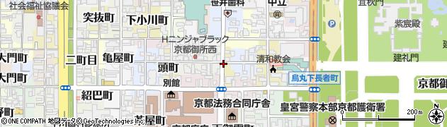 京都府京都市上京区元頂妙寺町周辺の地図