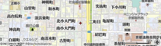 京都府京都市上京区菊屋町周辺の地図