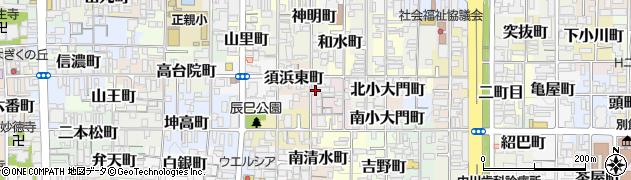 京都府京都市上京区東堀町周辺の地図