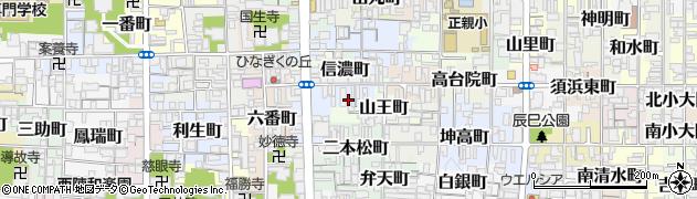 京都府京都市上京区愛染寺町周辺の地図