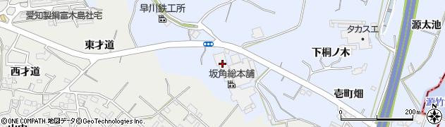 愛知県東海市荒尾町(甚造)周辺の地図