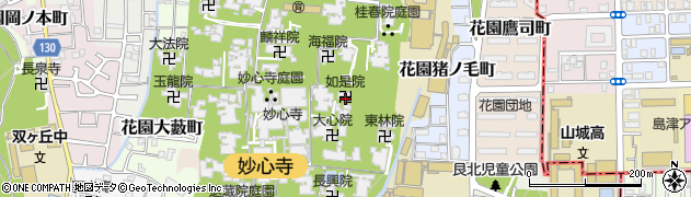 如是院周辺の地図