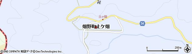 京都府亀岡市畑野町土ケ畑周辺の地図