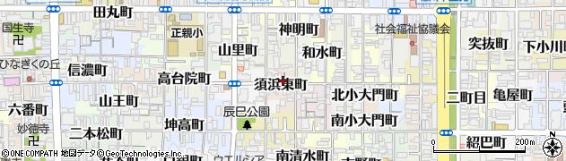 京都府京都市上京区須浜東町周辺の地図